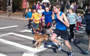 Conor leads the pack at 2nd Annual Turkey Trot 5k in November, 2015!